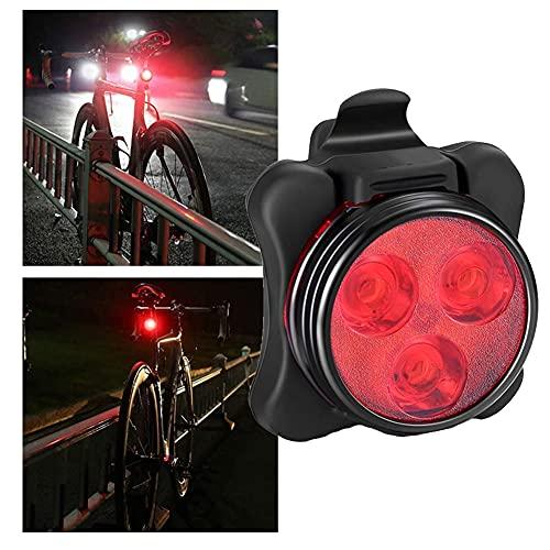 NiceJoy Fahrrad Rücklicht USB Wiederaufladbare Fahrradlicht wasserdichte Rücklicht Led Heckfahrrad Licht Mountainbike Universal Fit Mit Clip Mount Strap Für Kinder Erwachsene Rot 1 Stück
