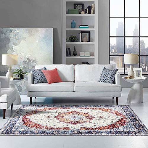 Taleta Flanell Teppich Traditionell Orientalisch Vintage Wohnzimmer Blau Größe: 160 x 230 cm