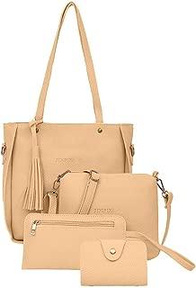 New!Farmerl Woman Bag 2019 New 4PC Shoulder Bag Messenger Bag Wallet Handbag