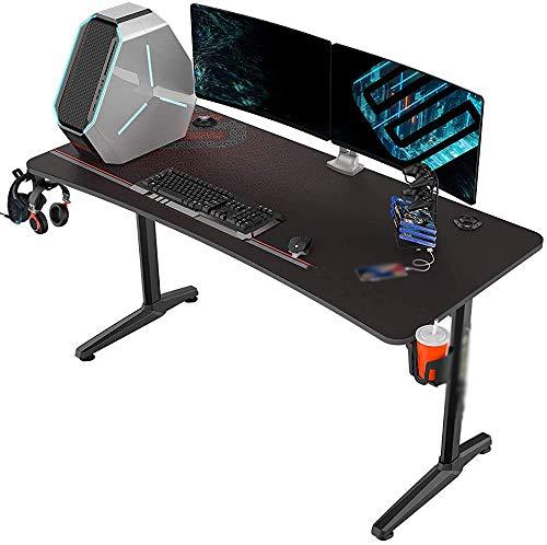 Home Office-Headset Cupholder Rahmenspieltisch Spieltisch Computertisch Tisch, Maus-Pad Rack Headset Cupholder,Black