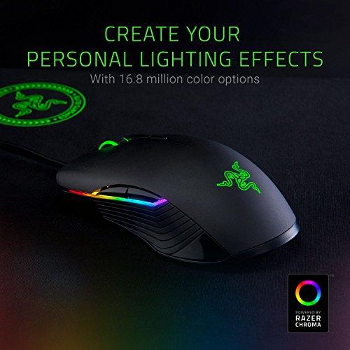 Razer Lancehead Tournament Edition - Ratón gaming ambidextro (sensor láser con 16000 DPI, switches mecánicos, retroiluminación RGB Chroma), color negro