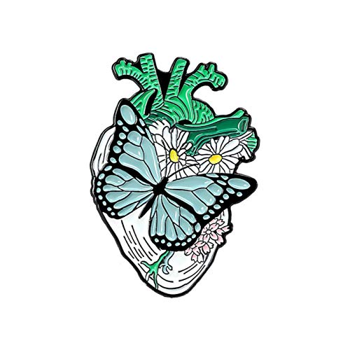 BLUESTEER Anatomie-Herz, medizinische Dissektion, Brust, Nadel, Nerven, Ärzte, Ärzte und Krankenschwestern, Flansch-Tasche Abzeichen Geschenk