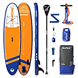 "AQUAPLANET MAX SUP Inflatable Stand Up Paddle Board Kit | 6"" Thick 