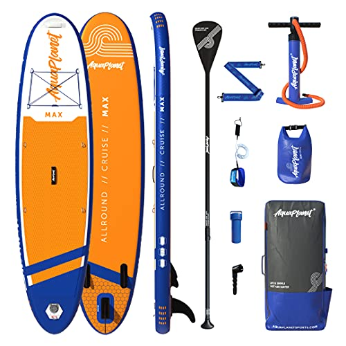 """AQUAPLANET MAX SUP Inflatable Stand Up Paddle Board Kit 