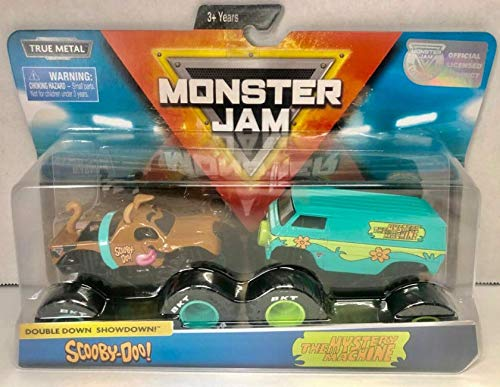 MJ Monster Jam Scooby Doo and The Mystery Machine Doubledown 1:64 Scale