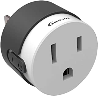 Novania Remote Control Smart Plug,Wall Mount Charger, WiFi Surge Protector Adapter,Smart Outlet Extender Compatible with Amazon Echo & Google Home,IFTTT Voice Control Socket,Electrical Outlet Switch