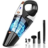 Handheld Vacuum,7000PA Powerful Cyclonic Suction Mini Handheld Vacuum Cordless Cleaner, Portable Lightweight Handheld Vacuum for Home pet and Car Cleaning,Gold