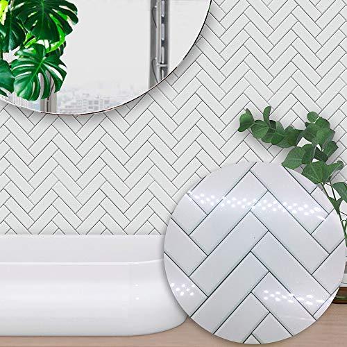 Ruosaren - Adhesivo para azulejos de baño, cocina, autoadhesivo, resistente al agua, resistente al aceite, plástico, cabra, 6 * 6 inch * 10PC.