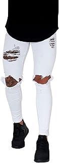 Pantalones Vaqueros para Hombre,Pantalones Casuales Moda Jeans Rotos Trend Largo Pantalones Pants Skinny Pantalon Fitness Jeans Largos Pantalones Ropa de Hombre