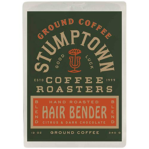 Stumptown Coffee Roasters Hair Bend Ground Coffee, 12 Oz Bag, Flavor Notes Of Citrus & Dark Chocolate