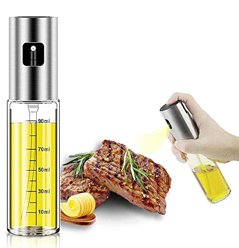Wimzy Creations Olive Oil Sprayer Dispenser for Cooking, Food-Grade Glass Oil Spray Bottle Oil Dispenser,Olive Oil Sprayer for BBQ/Making Salad/Baking/Frying Kitchen