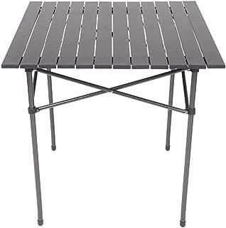 Ruitx Mesas Laterales de Camping portátiles con Tablero de Aluminio, Mesa Plegable en una Bolsa para Picnic, Campamento, Playa, Barco, fácil de Limpiar