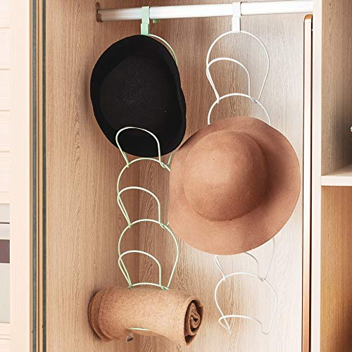 Percha para puerta, organizador de sombreros, 5 unidades, ganchos para gorras, ropa, toallas, cocina, gorra de béisbol, montaje en pared, color blanco