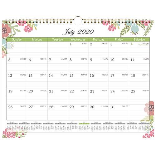 2020-20201 Calendar - 18 Months Wall Calendar with Julian Date, Jan. 2020 - Jun. 2021. Thick Paper...