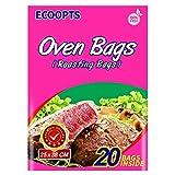 ECOOPTS Bolsas de horno de tamaño grande para horno de horno, para carne, jamón, marisco, verduras, 20 bolsas (25,4 x 38,1 cm)…