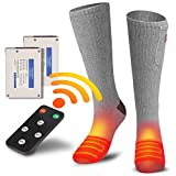 CHEROO Rechargeable Electric Heated Socks for Skiing Cycling Camping Unisex Heating Socks Up to 9 Hours of Heat with 4 Heat Settings Remote Control