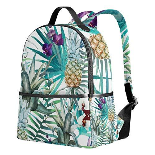 Ahomy Rucksack Aquarell Tropische Ananas-Palme Rucksack Reise Camping Schultaschen für Mädchen Jungen Frauen