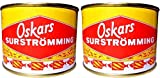 2 x Oskars Surströmming 440g/300g Fisch Dose (fermentierte Heringe)