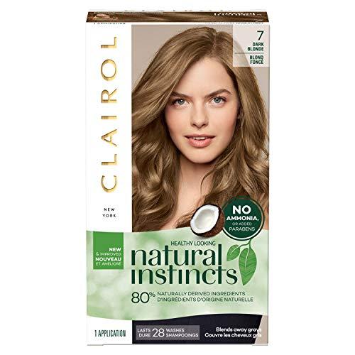 Clairol Natural Instincts Semi-Permanent, 7 Dark Blonde, Coastal Dune, 1 Count, Brown Clairol