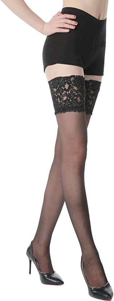 Lace Top Thigh High Stockings Sexy Sheer Stay Up Lingerie Stockings