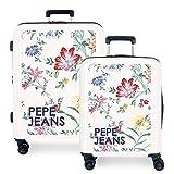 Pepe Jeans Leven Juego de maletas Multicolor 55/70 cms Rígida ABS Cierre TSA 119.5L 4 Ruedas Dobles Equipaje de Mano