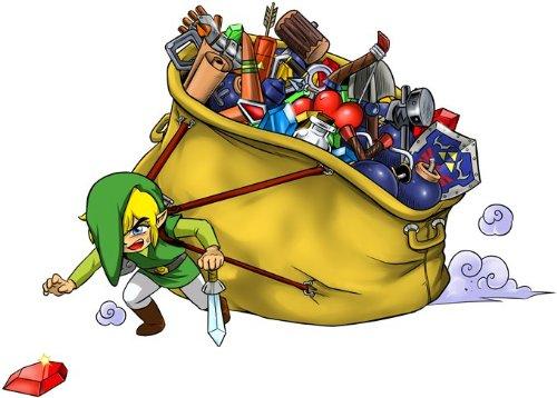 Okiwoki T-Shirt Noir Zelda parodique Link : Paré pour L'Aventure !! (Parodie Zelda)