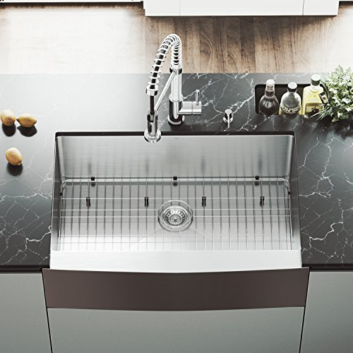 Vigo All-in-one 32″ Mercer Stainless Steel Undermount Kitchen Sink Set