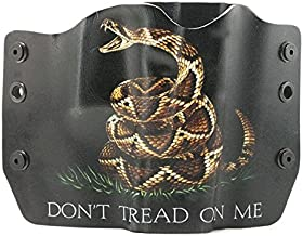 Don't Tread On Me Black Kydex OWB Holsters for More Than 125 Different Handguns. Left & Right Versions Plus Speed Clips Available.