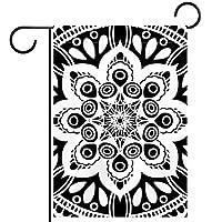 ウェルカムガーデンフラッグ(12x18inch)両面垂直ヤード屋外装飾,花