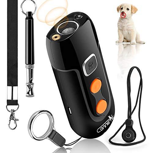 Dispositivi Anti-abbaio per Cani ad ultrasuoni, Dispositivo di Controllo dell'abbaio Ricaricabile, repellenti sonici sicuri per Cani e Fischietto per Cani, dispositivi Anti-addestramento per Cani