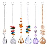 LONGSHENG Chandelier Suncatchers Prisms Octogon Chakra Crystal Balls Hanging Pendant Ornament with Gift Box for Home,Office,Garden Decoration