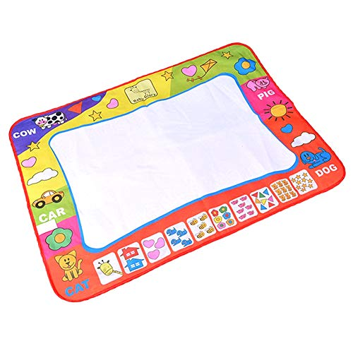 Regenbogen-Wasser-Zeichnungs-Pad Magnetic Gekritzel Mat Educational Kleinkinder Malwerkzeug Lustige Aqua-Board mit zwei Wasser Pens 1set