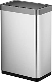 EKO Mirage X 80 Liter / 21.1 Gallons Motion Sensor Trash can, 80-Liter, Brushed Stainless Steel