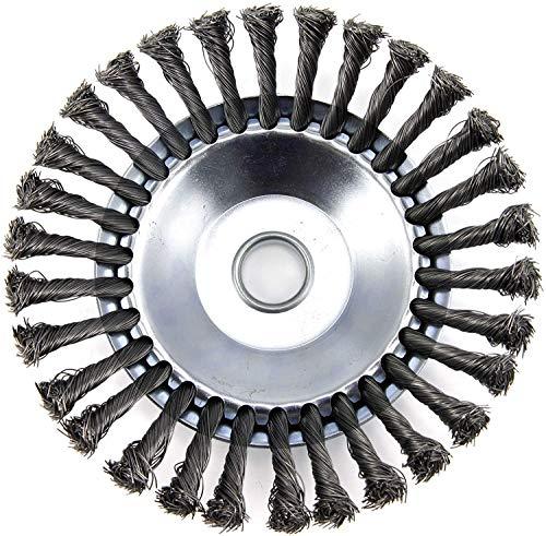 6 Pouces Tête Brosse Désherbage, Brosse de Roue de Fil D'acier Universel Métal Fixation de Débroussailleuse 25,4MM x 150MM