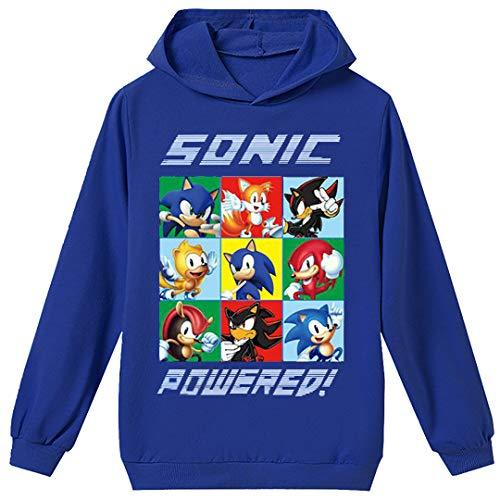 Silver Basic Niños 2D Impreso Sonic The Hedgehog Sudadera con Capucha Película...