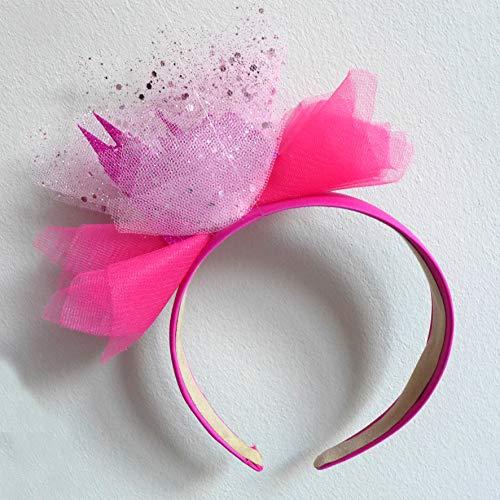 Unbekannt Haarreif Kölner Dom pink Glitter Köln Haarreifen Haarschmuck Karneval Kostüm