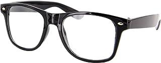 Alsino Nerd bril zonder sterkte carnaval zonnebril zwart hoornbril voor kostuum accessoires modebril (helder), (helder)