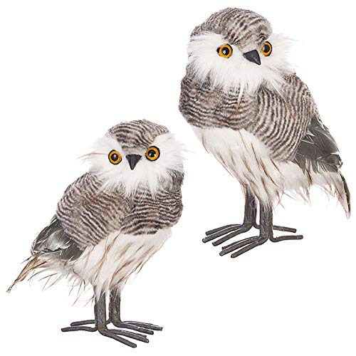 beautiful owl figurines for sale set of 2