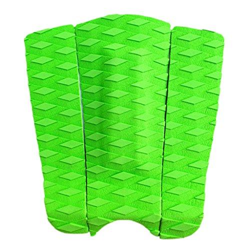 CUTICATE 3X EVA Tail Pad Tabla De Surf Cubierta Traction Stomp Surfing Grip Mat Trim Sheet - Verde