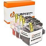 4 bubprint cartucce d'inchiostro compatibili per brother lc-3219xl per mfc-j5330dw mfc-j5335dw mfc-j5730dw mfc-j5930dw mfc-j6530dw mfc-j6535dw mfc-j6930dw mfc-j6935dw