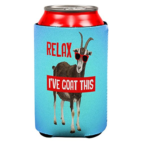 Animal World Relax I've Goat Got This All Over Can Cooler Multi Standard One Size