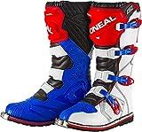 Stivali Mx Oneal Rider Eu Blu-Rosso-Bianco (Eu 44 / Us 10.5 , Blu)