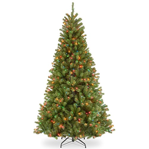 National Tree 7 Foot North Valley Spruce Tree with 500 Multicolored Lights (NRV7-301-70)