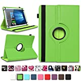 NAmobile Tablet Tasche kompatibel für Blaupunkt Atlantis A10.G402 A10.G403 Hülle Schutzhülle Tablettasche mit Standfunktion 360 Crad drehbar Universal Tablethülle, Farben:Grün