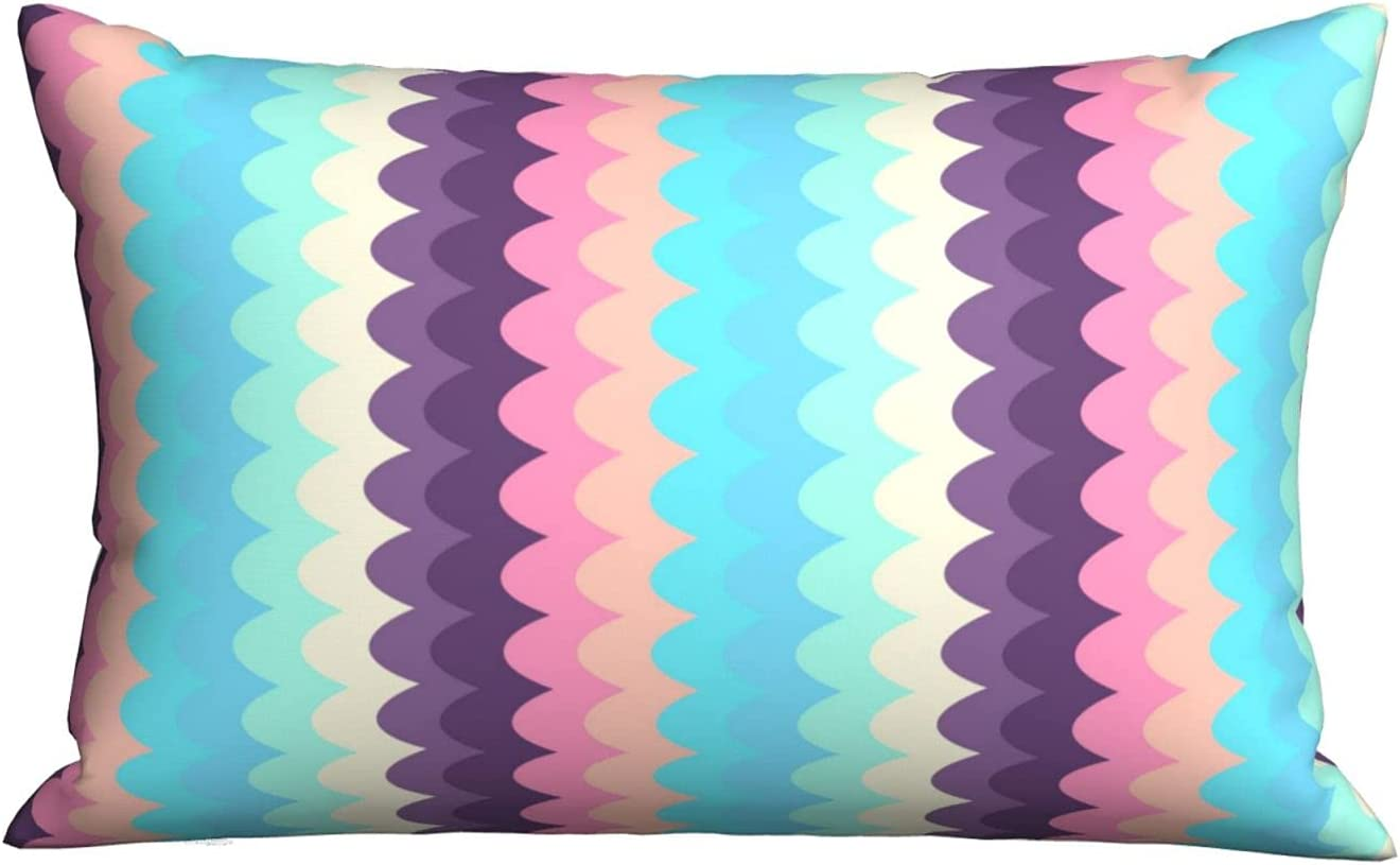 Colorful Abstract Scales Background Bed Sup for Soft half Pillows and