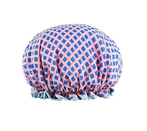 Capuchon de bain créatif Capuchon de douche étanche double, lattice