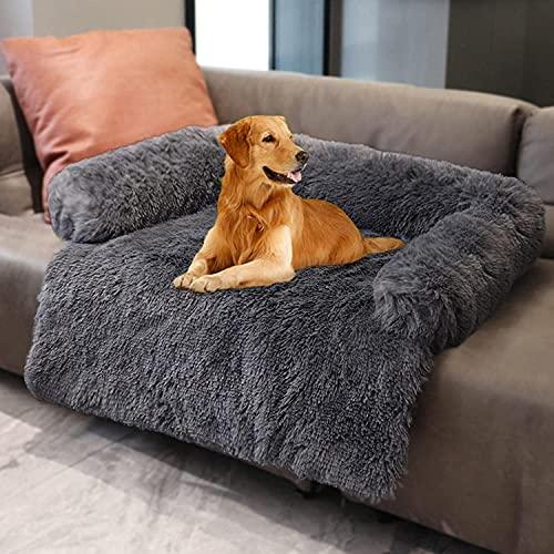 YZBBSH Hundebett Couch für Sofaschutz Hund und Kofferraumschutz, Flauschige Hundedecke, Hundedecke Haustier Super Softe Warme und Weiche Flauschig Fleece für Hundebett Sofa und Couch,Dark Gray,74cm