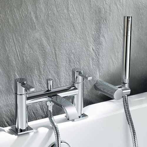 Kline Bathroom Taps - Chrome Bath Filler Mixer Tap with ...