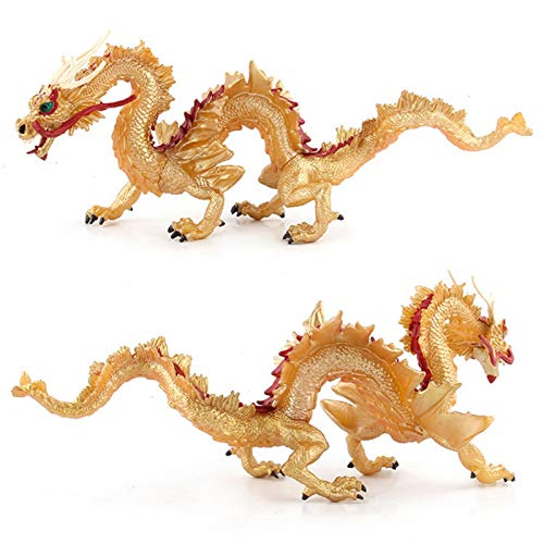 Jarome Figuras de dragón dragón Chino Juguete dragón colección Figurine decoración Coleccionable Estatua decoración estatuillas educación Realista Juguete Regalo Regalo confiable Valuable