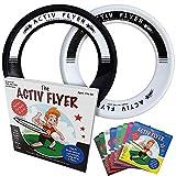 "ActivLifeベストフライングリング[ブラック/ホワイト] 2パック-サマービーチおもちゃ、ゲームアイテム、スイミングプール、砂浜、芝生、アウトドア用品-ファミリーアウトドアアイテム8 9""ホワイト/ブラック"